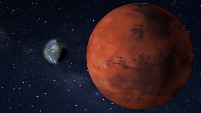 planet mars and earth rotating in the outer space. - 1987 stock videos & royalty-free footage
