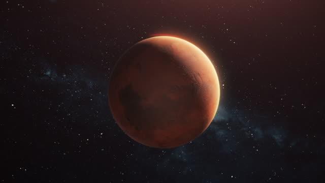 pianeta marte nello spazio aperto - mar video stock e b–roll