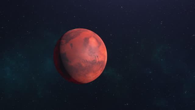 planet mars orbiting high quality 4k - orbiting stock videos & royalty-free footage