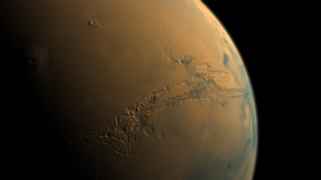 planet mars valles marineris canyons to olympus mons volcano - mars planet stock videos & royalty-free footage
