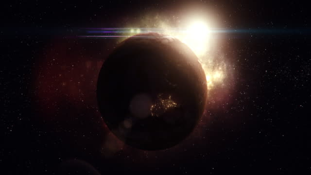 planet seen from space - science fiction film stock videos & royalty-free footage