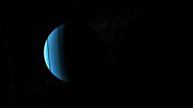 Planet Uranus and its ring and moon system