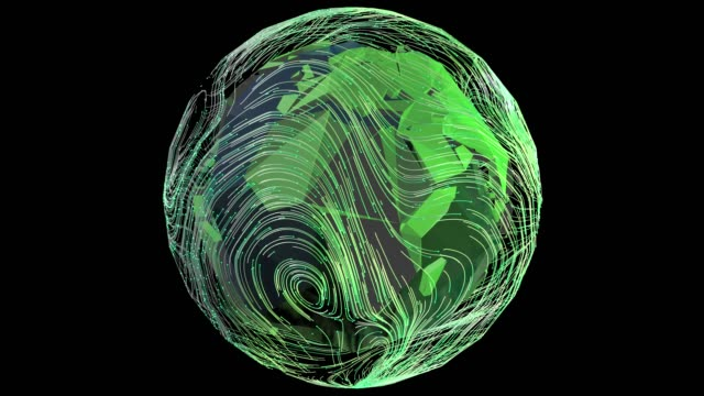 planet weather cycling loopable 3d animation - meteorology stock videos & royalty-free footage