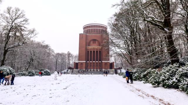 planetarium hamburg hyperlapse - making a snowman stock videos & royalty-free footage