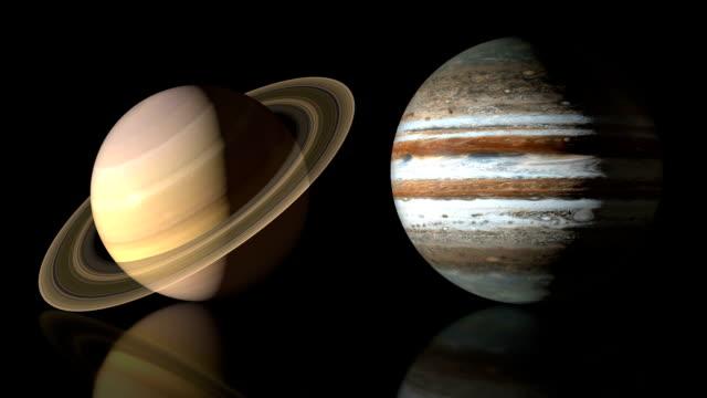 vídeos de stock e filmes b-roll de planetas. parte ii. - júpiter