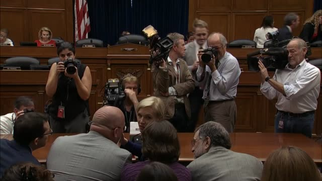 planned parenthood ceo cecile richards is photographed taking receive any witness table prior to giving testimony to the house oversight committee.. - witness stock videos & royalty-free footage