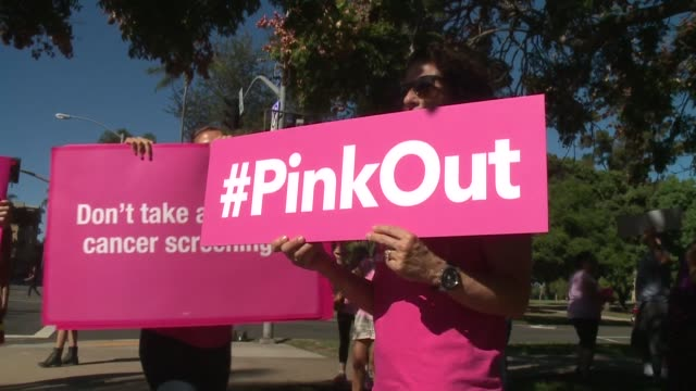 KSWB Planned Parenthood supporters staff and volunteers rallied in San Diego to speak out for women's access to reproductive health care