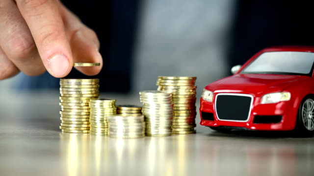 planning buy car savings - car ownership - 4k resolution - making money stock videos & royalty-free footage