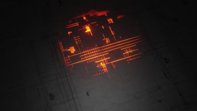 planungsverbindungsdaten-blueprint - genauigkeit stock-videos und b-roll-filmmaterial