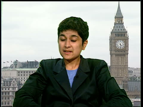 planning for g8 summit in gleneagles england london shami chakrabati interview sot we've seen in recent times the heavy handed use of antiterror laws... - g8 summit stock videos & royalty-free footage