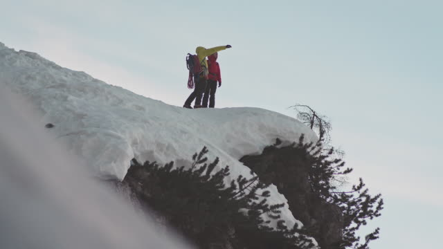 planning for ice climbing - pointing stock videos & royalty-free footage