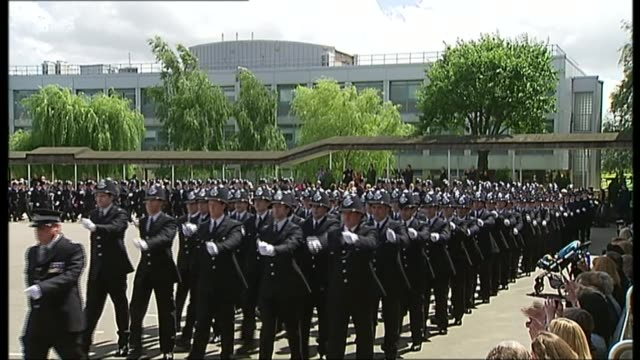 plans to extend powers given to police volunteers date london ext police recruits at passing out parade - military recruit stock videos and b-roll footage