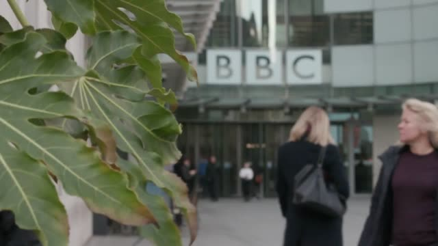 """plans to """"modernise"""" the bbc's newsroom will lead to an estimated 450 job losses, the bbc has said. the corporation said it wanted to """"reduce... - bbc stock videos & royalty-free footage"""