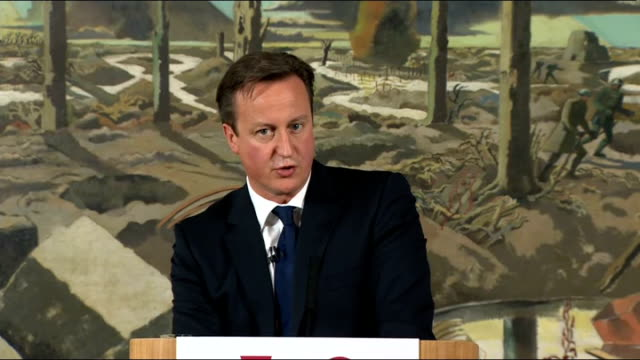 stockvideo's en b-roll-footage met plans unveiled to mark centenary of the start of the first world war england london imperial war museum int david cameron mp speech sot our duty... - imperial war museum museum