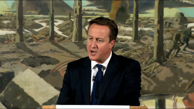 stockvideo's en b-roll-footage met plans unveiled to mark centenary of the start of the first world war david cameron speech england london imperial war museum int david cameron mp... - imperial war museum museum