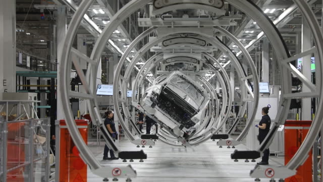 bmw plant in san luis potosi mexico on thursday june 6th 2019 - bmw stock videos & royalty-free footage