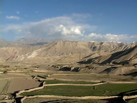 ws, plantation in himalaya mountains, mustang-himalaya, nepal - stationary process plate stock videos & royalty-free footage