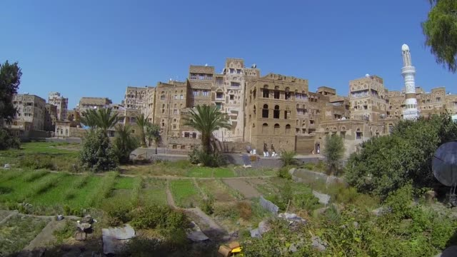 plantation of sanaa city in yemen. - yemen stock videos & royalty-free footage