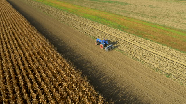 AERIAL Planting With The Tractor