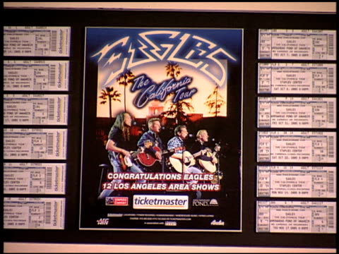 plaque inserts at the eagles awards presentation at staples center in los angeles california on october 22 2005 - plaques stock videos & royalty-free footage
