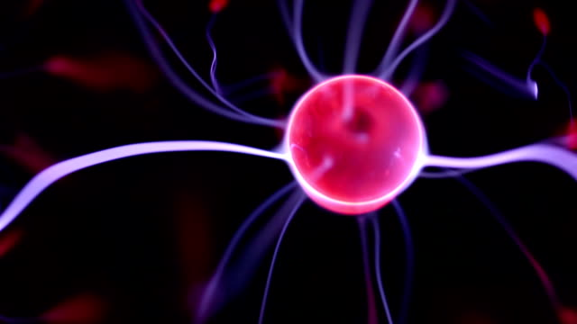 plasma ball. - tesla coil stock videos and b-roll footage