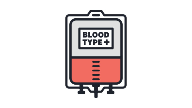 Plasma Donation Flat Line Icon Animation With Alpha Stock