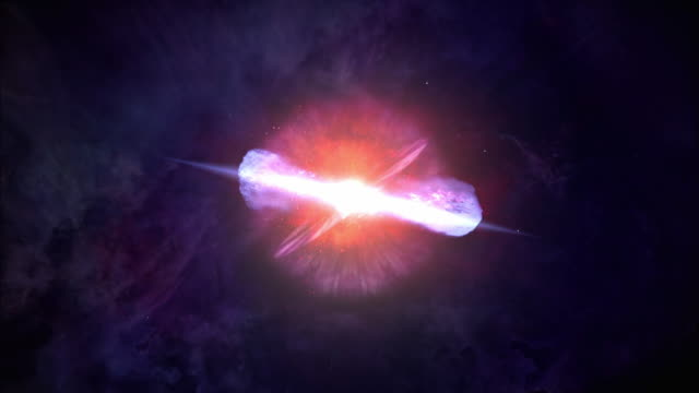 plasma explodes in a nebula in a supernova. - atmosphäre stock-videos und b-roll-filmmaterial