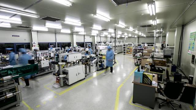 plasma manufacturing factory / south korea - liquid crystal display stock videos & royalty-free footage