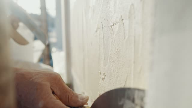 plastering works - wall building feature stock videos & royalty-free footage