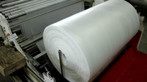 plastic bag factory - plastic bag stock videos & royalty-free footage