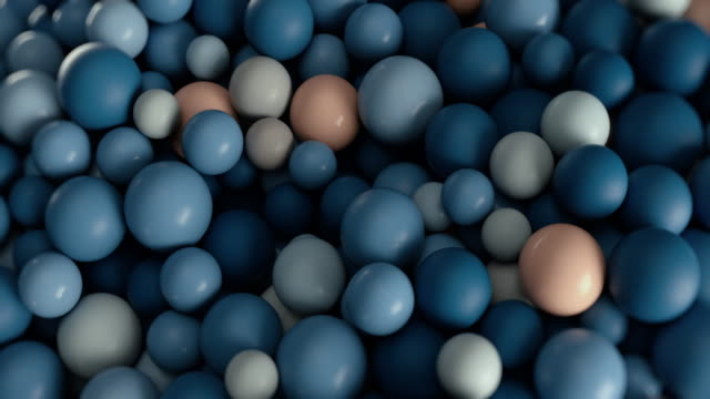 plastic balls of different sizes and colors, rolling, colliding with each other - relief emotion stock videos & royalty-free footage