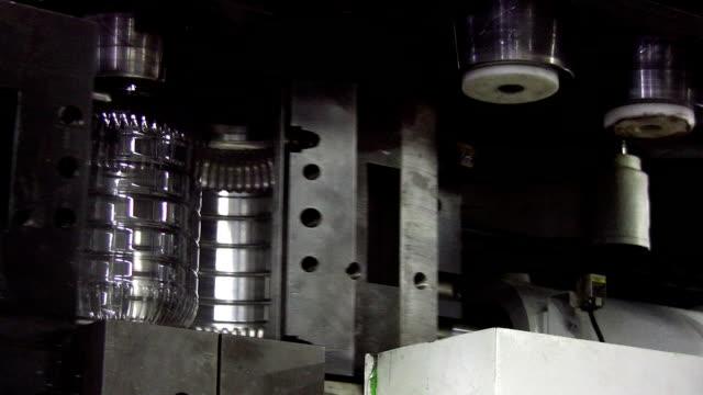Plastic bottle and jar production unit