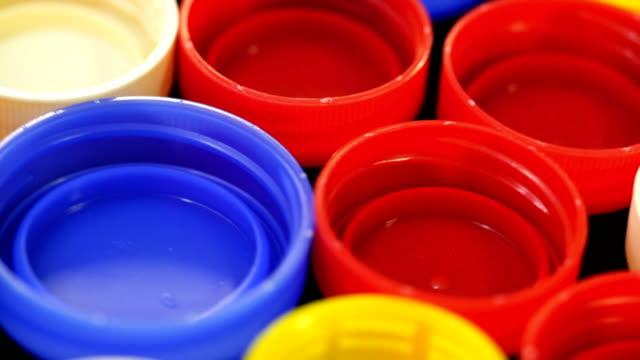 plastic bottle cap - plastic cap stock videos & royalty-free footage