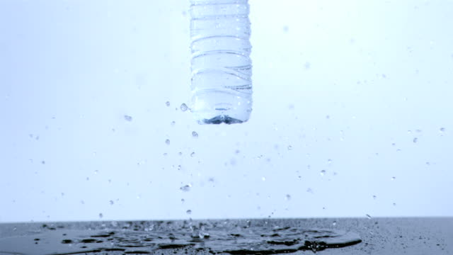 plastic bottle falling in super slow motion - cork material stock videos & royalty-free footage