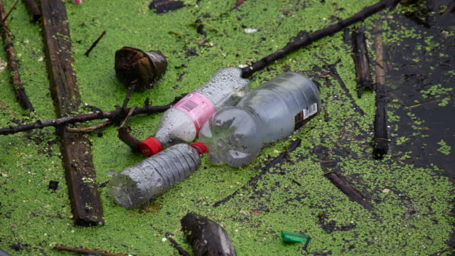 plastic bottles are seen floating in the river taff on september 9 2018 in treforest united kingdom approximately 385 million plastic bottles are... - water pollution stock videos & royalty-free footage