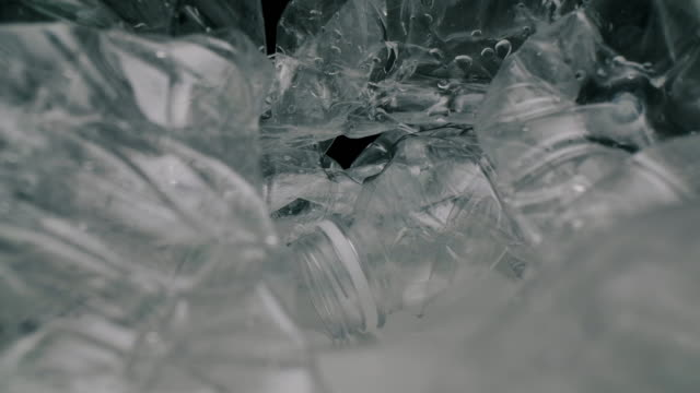 plastic bottles recycle concept,dolly macro shot. - plastic cap stock videos & royalty-free footage