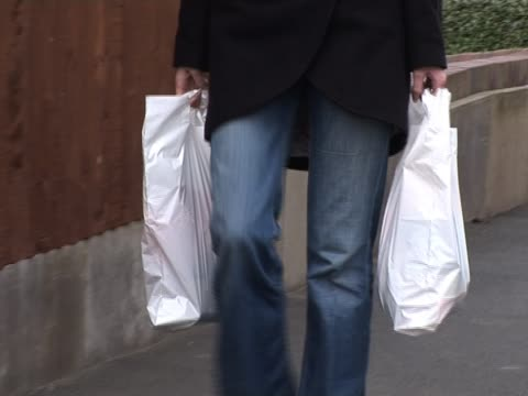 plastic carrier shopping bags - polypropylene stock videos and b-roll footage