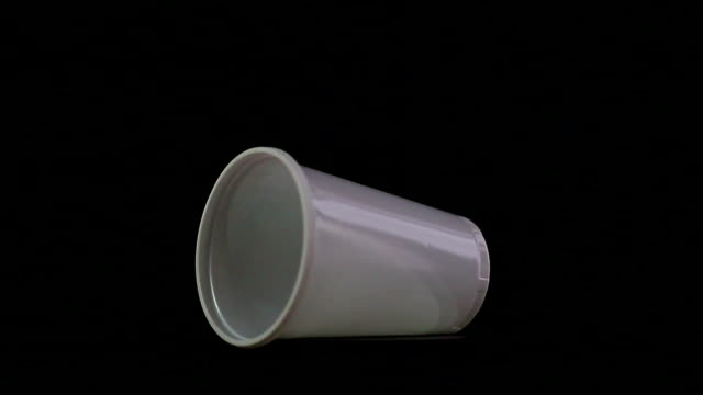 plastic cup - disposable stock videos and b-roll footage