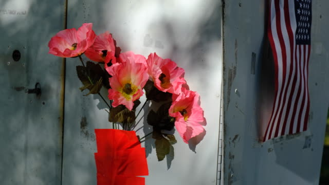 plastic flowers on a mailbox. bloomington, indiana, united states - : a united states post office letterbox in the hyde park neighborhood of... - time of day stock videos & royalty-free footage