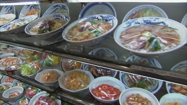 cu plastic food display, tokyo, japan - japan stock-videos und b-roll-filmmaterial