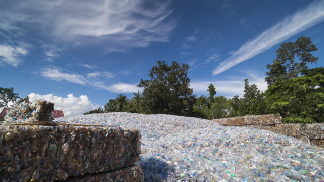 plastic hill for recycling - rubbish dump stock videos & royalty-free footage