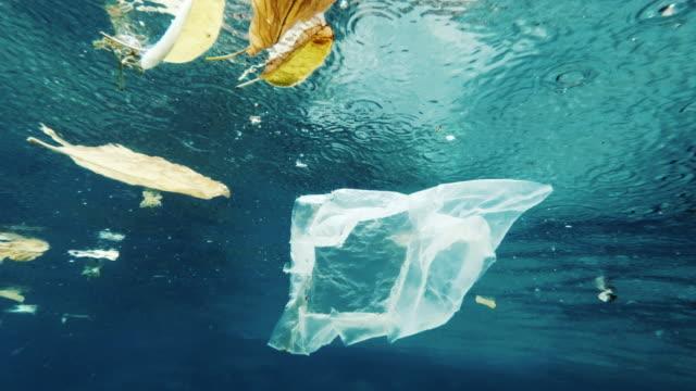 plast i havet miljö-ekocid föroreningar underwater - vattenförorening bildbanksvideor och videomaterial från bakom kulisserna