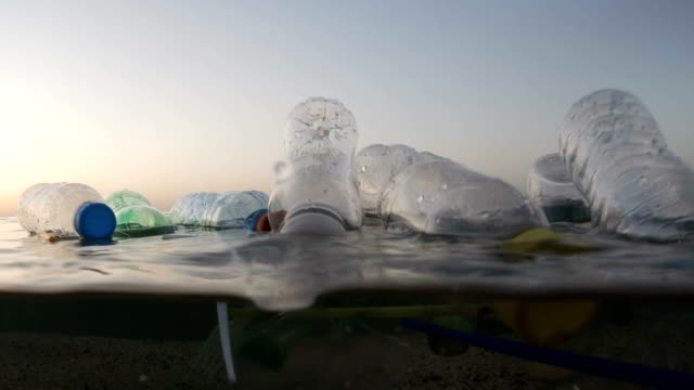plastic pollution at sea - undersea stock videos & royalty-free footage