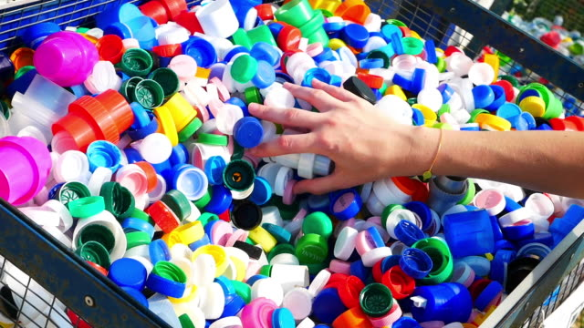 plastic recycling - cap stock videos & royalty-free footage