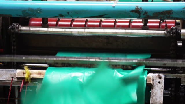 plastic sheet cutting machine - packaging stock videos & royalty-free footage