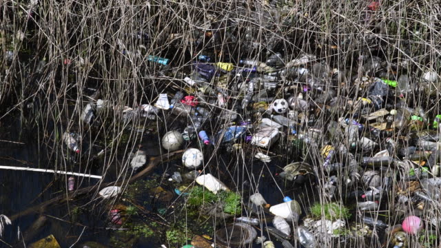 plastic singleuse bottles seen floating on water in cardiff bay in cardiff wales uk a million plastic bottles are bought around the world every... - disposable stock videos and b-roll footage