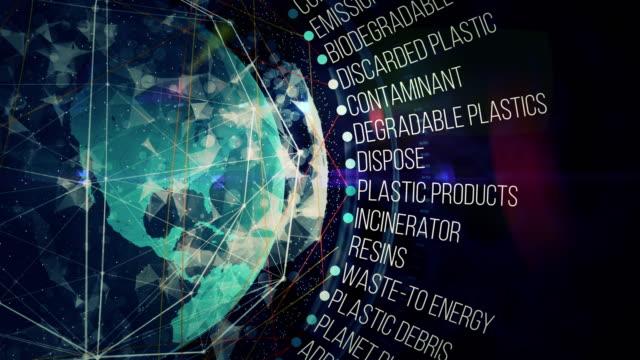 plastics waste terms - polyethylene terephthalate stock videos and b-roll footage