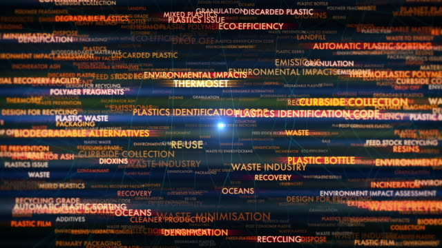 plastics waste terms - packaging stock videos & royalty-free footage
