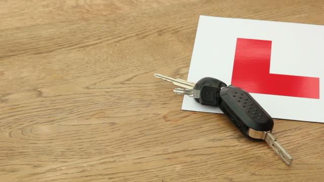 Plaque de conducteur débutant & clés/apprenant conducteur