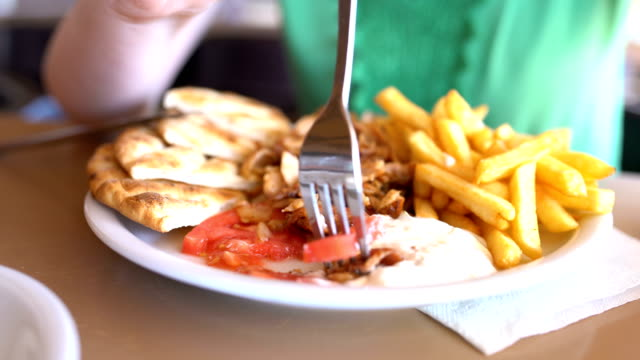 plate of enjoyment - kebab stock videos and b-roll footage